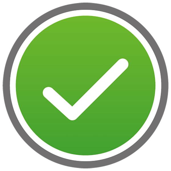アイコン チェック(ボタン・済・選択・緑)