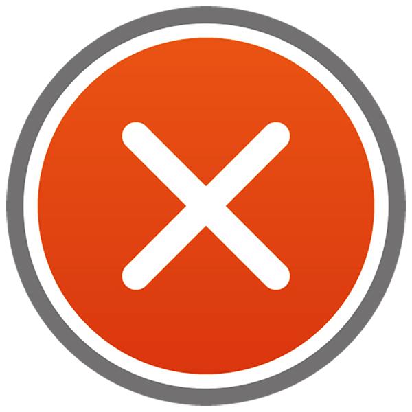 アイコン 閉じる(ボタン・×・禁止・赤)