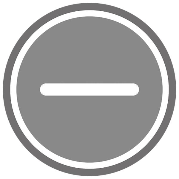 アイコン マイナス(ボタン・灰色)