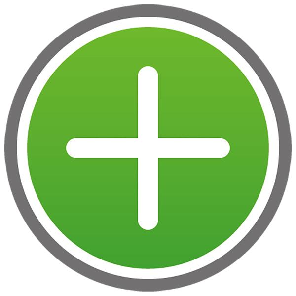 アイコン プラス(ボタン・足す・+・緑)