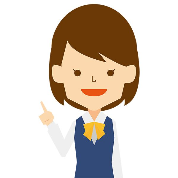 人物 女性(ビジネス・制服・指さし)