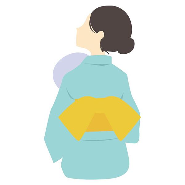 人物 女性(夏・浴衣・後ろ姿)