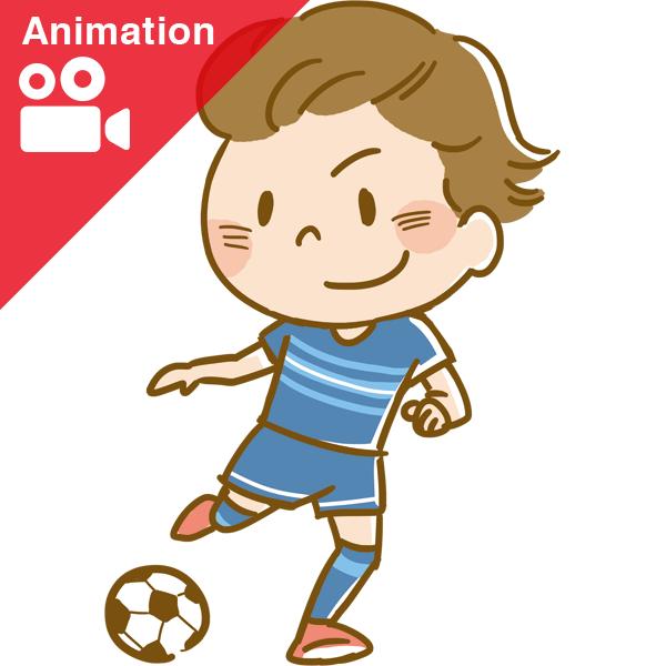 競技 サッカー アニメーション