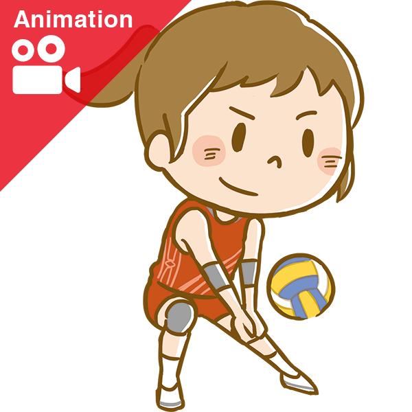 競技 バレーボール アニメーション