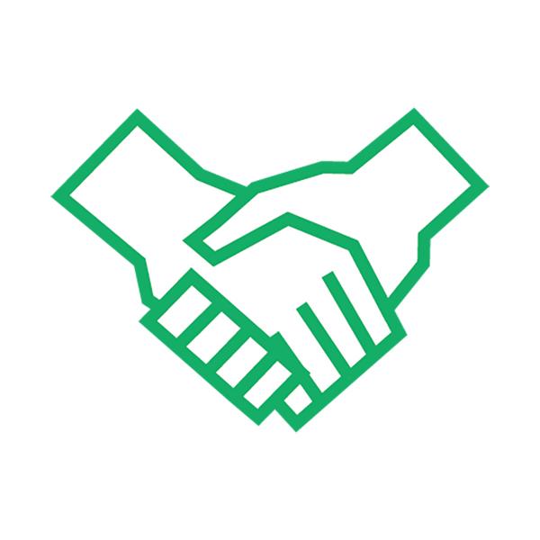 ビジネス 握手(ピクトグラム・アイコン・契約・成立・手)
