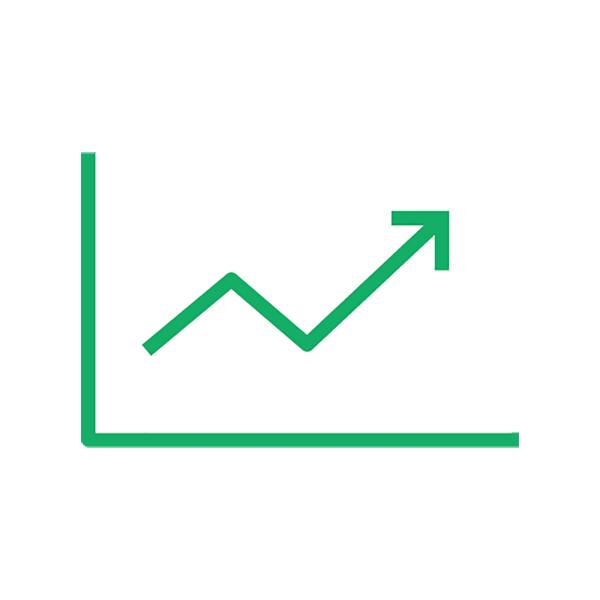 ビジネス グラフ(ピクトグラム・アイコン・上昇・増加)