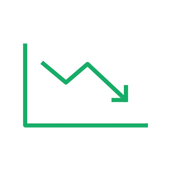 ビジネス グラフ(ピクトグラム・アイコン・下降・減少)