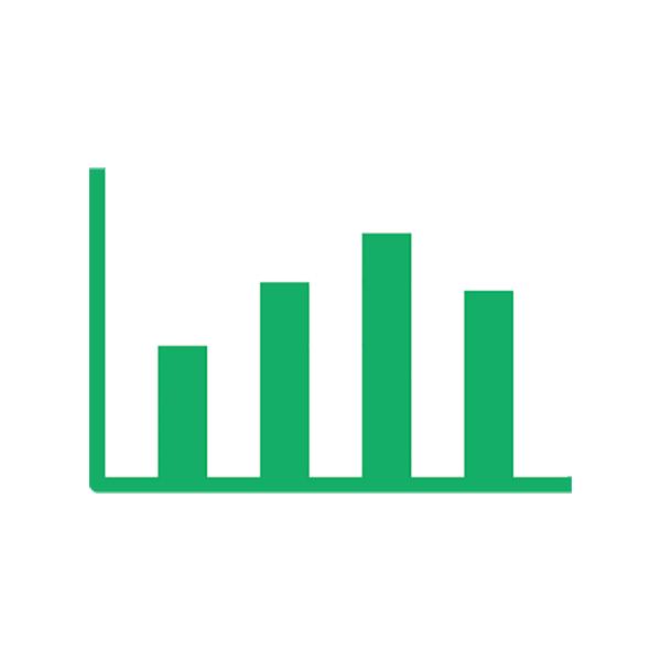 ビジネス グラフ(ピクトグラム・アイコン・棒グラフ・分析)