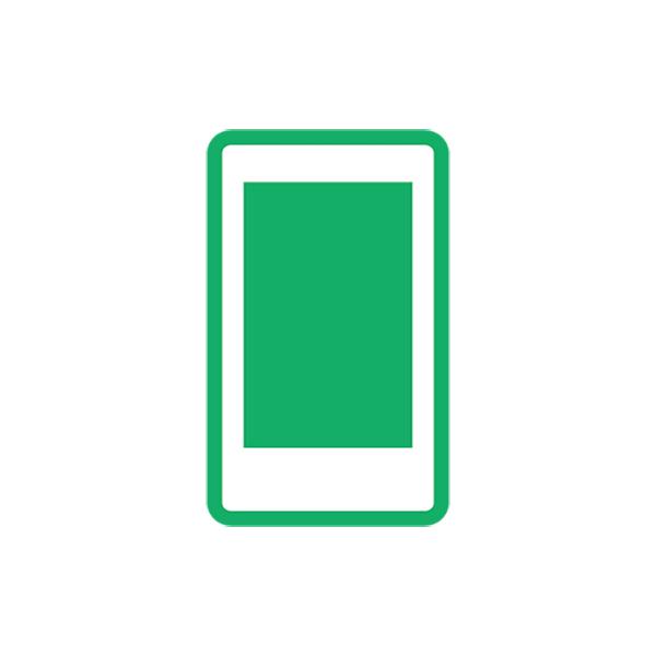 ビジネス スマートフォン(ピクトグラム・アイコン・スマホ・携帯)