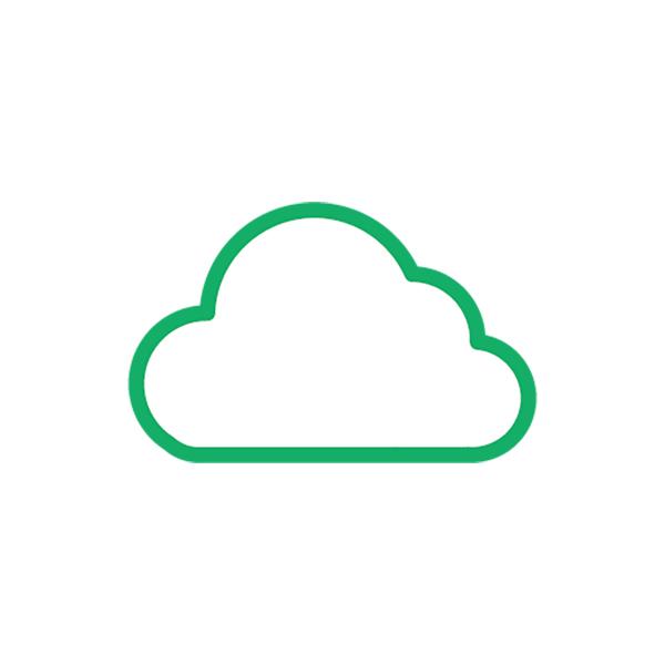ビジネス クラウド(ピクトグラム・アイコン・雲)