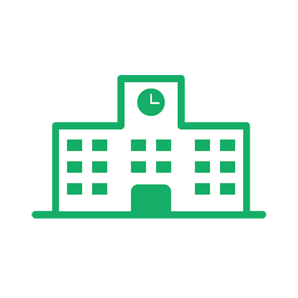 ビジネス 学校(ピクトグラム・アイコン・建物・校舎)