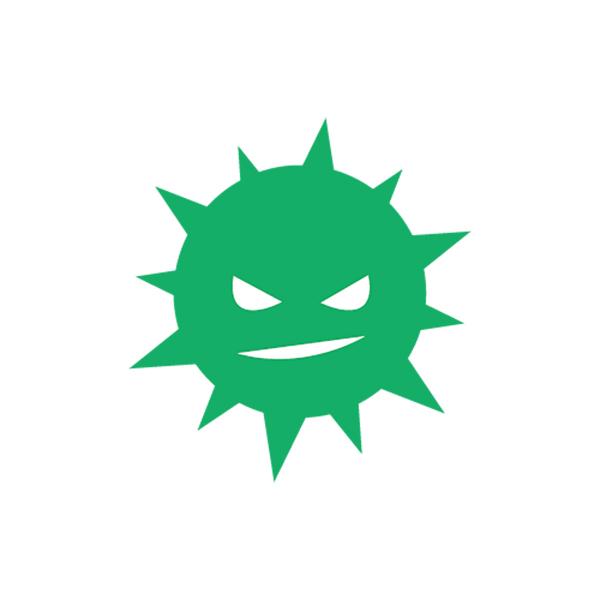ビジネス ウィルス(ピクトグラム・アイコン・菌・悪)