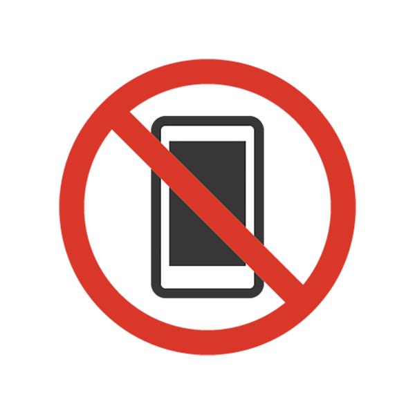 ビジネス 携帯電話使用禁止(アイコン・禁止・マーク・スマートフォン)