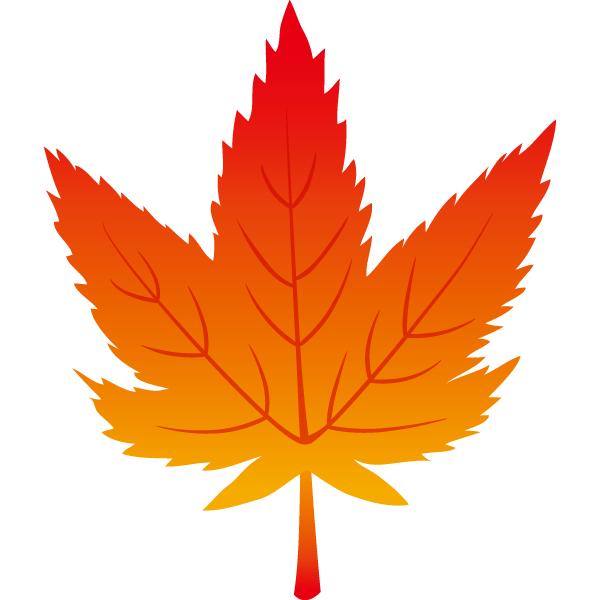 紅葉の葉っぱ(赤)
