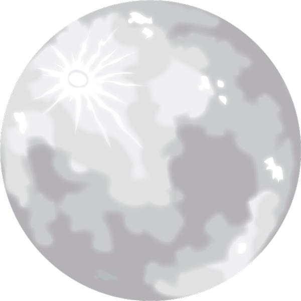 満月 銀色(シルバー)
