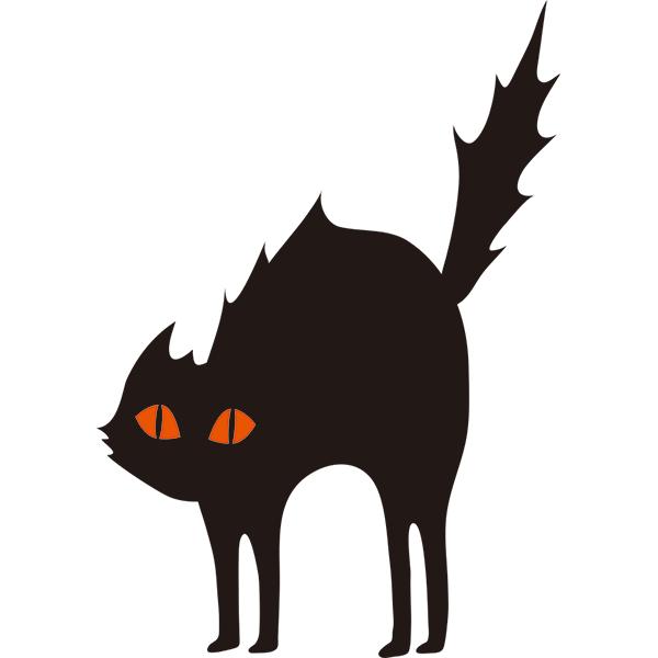 黒猫 威嚇