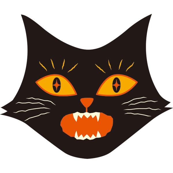 黒猫 びっくり顔