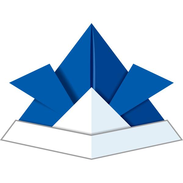 折り紙 兜(ブルー)