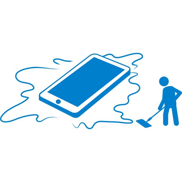 スマートフォンの水濡れ