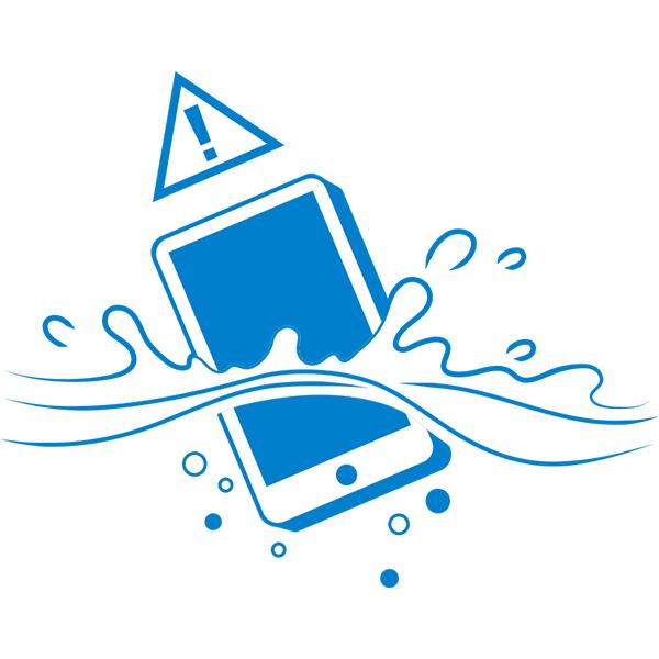 スマートフォンの水没(危険)