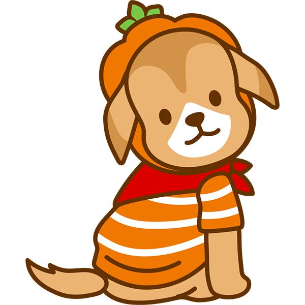 ハロウィン 犬(後ろ姿)