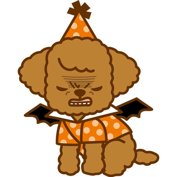 ハロウィン 犬 怒り顔