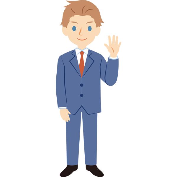 スーツの外国人男性 全身
