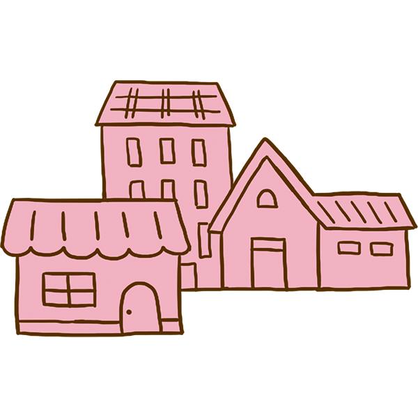家1(ピンク)