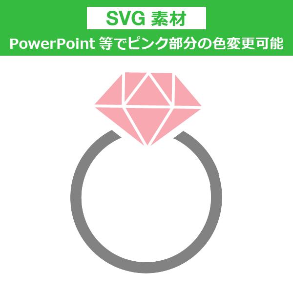 <SVG素材>ピンクの指輪