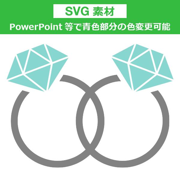 <SVG素材>重なった指輪