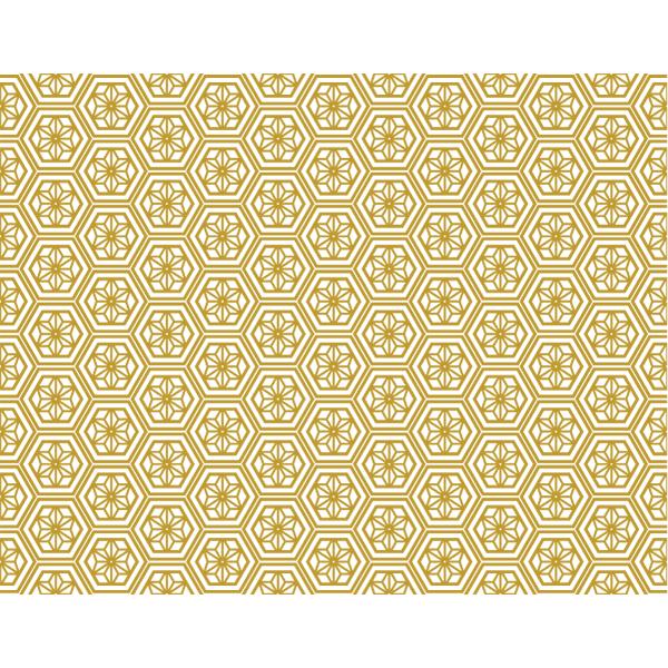 和風素材 パターン和柄 ゴールド