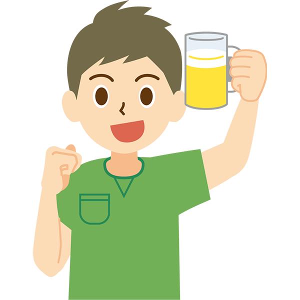 ビール 男性