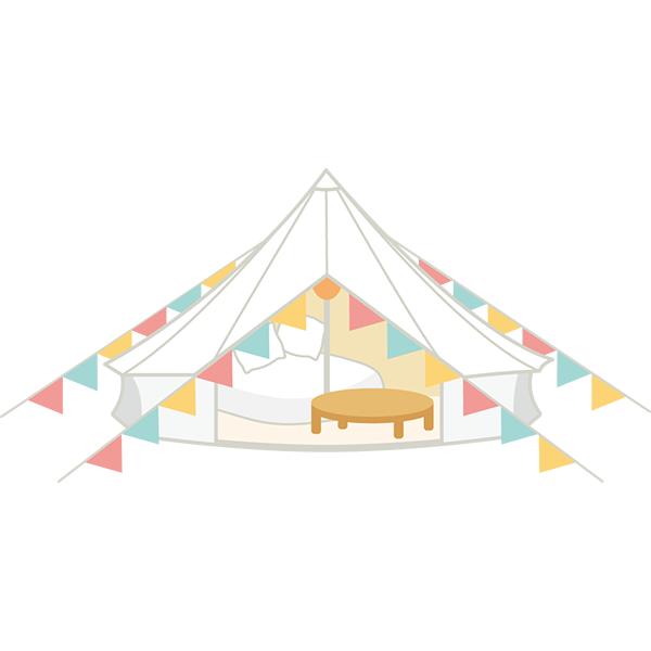 キャンプ グランピング テント