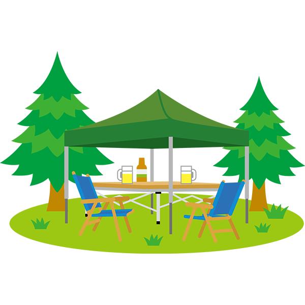 キャンプ タープ 風景