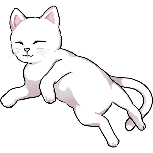 猫 リアル 横たわる