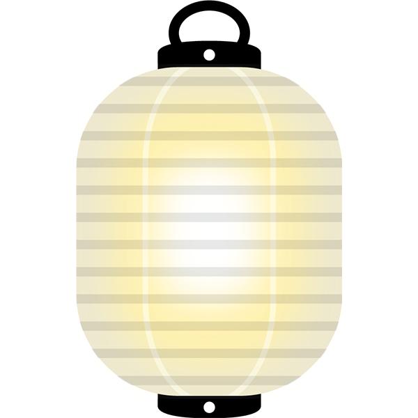 提灯 白 灯り