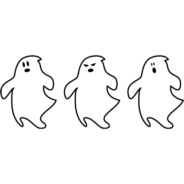 ハロウィン おばけ 3種