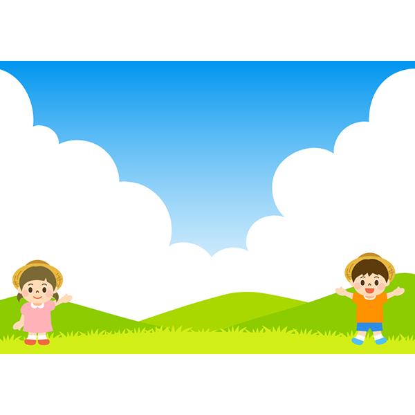 背景画像 夏の子どもたち