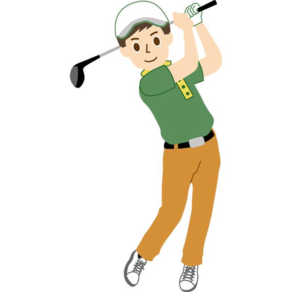 ゴルフ 男性 スイング