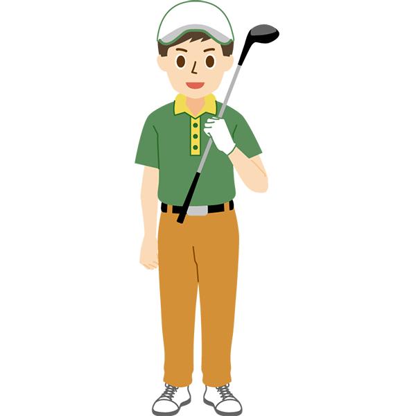 ゴルフ 男性 正面