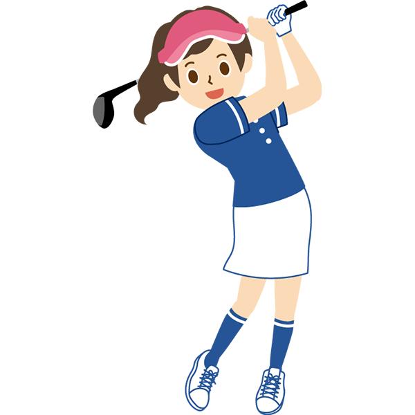 ゴルフ 女性 スイング