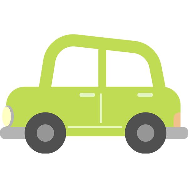 左向きの車 緑