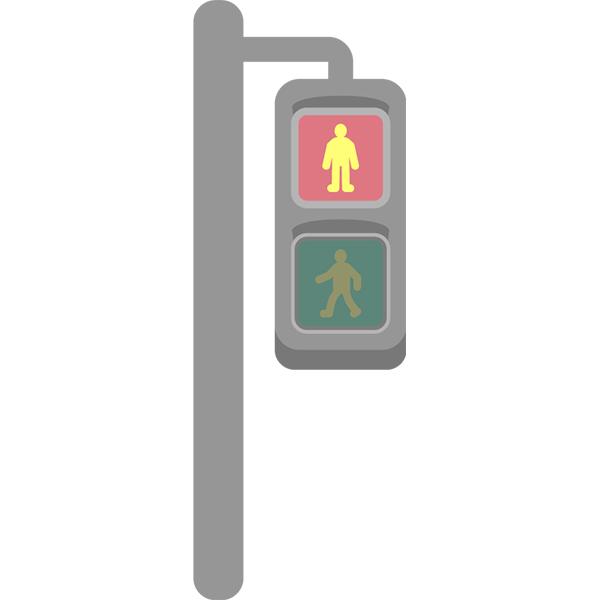 歩行者用信号機 赤色