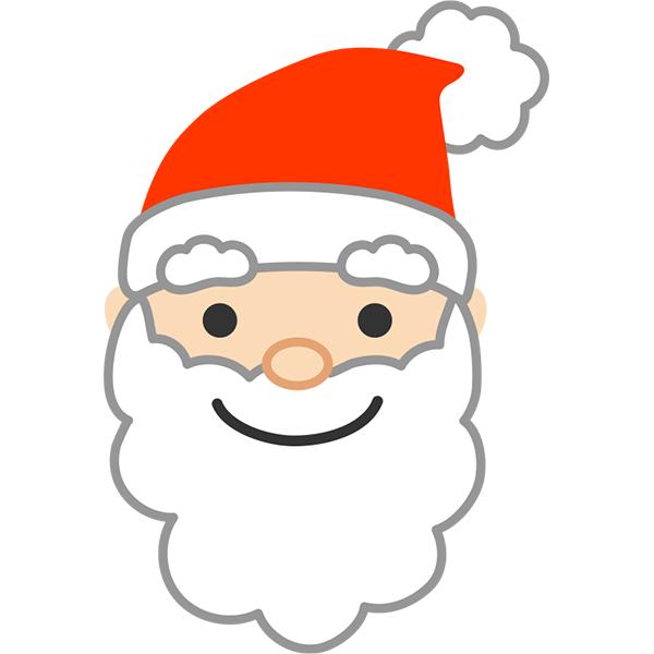 サンタクロースの顔1