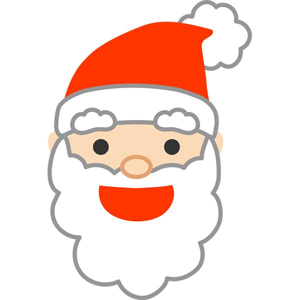 サンタクロースの顔2