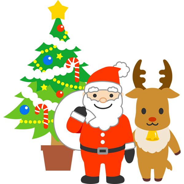 クリスマスツリー&サンタクロース&トナカイ