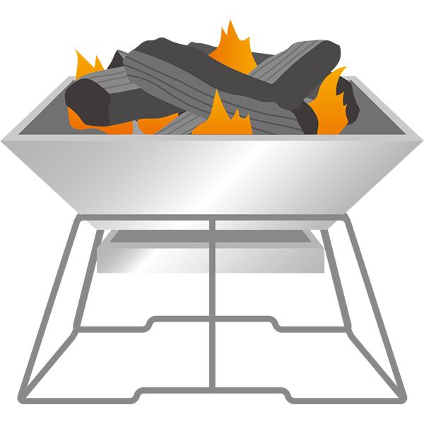 焚き火台 小さい火
