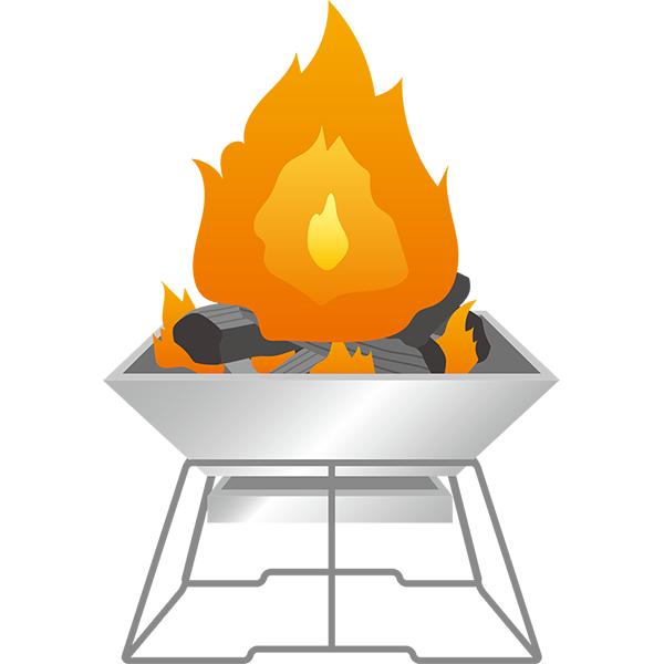 焚き火台 大きい火