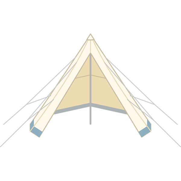 とんがりテント モノポールテント