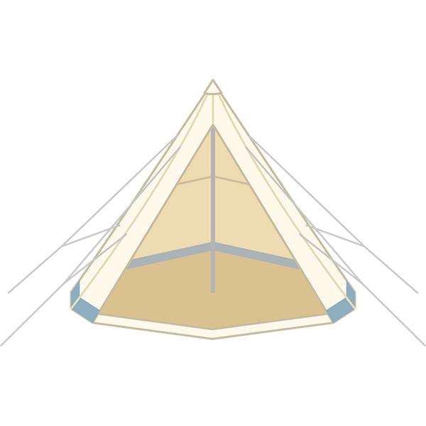 とんがりテント モノポールテント 床あり
